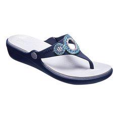 54b9ae77ad1 Sanrah Embellished Diamante Wedge Thong Sandal