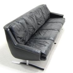 Gustav Thams; Chromed Steel and Leather Sofa, 1960s. Settees, Armchairs, Sofas, Sofa Chair, Couch, 60s Furniture, Mid Century Sofa, Daybeds, Leather Sofa