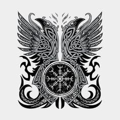 Huginn & Muninn, Odin's Ravens by Celtic Hammer Club tattoos meaning tattoos back tattoos symbols tattoos tatau Tattoo Tribal, Maori Tattoos, Marquesan Tattoos, Diy Tattoo, Viking Tattoos, Mandala Tattoo, Body Art Tattoos, Polynesian Tattoos, Tattoo Arm