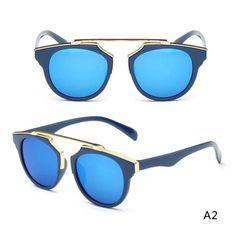Cat Eye Retro Sunglasses Cocok untuk pria dan wanita Melindungi mata dari  cahaya yang tajam Lensa dan cermin bulat dan bergaya klasik Bahan  bingkai  plastik ... 87fc78efa7