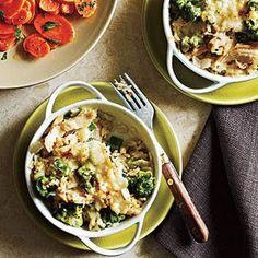 Salmon, Broccoli and Rice Casseroles