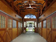 Horse stalls...one can dream...