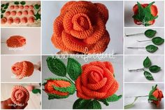 Crochet Puff Flower Slippers - Craft & Patterns - Her Crochet Roses Au Crochet, Love Crochet, Irish Crochet, Crochet Flowers, Crochet Flower Tutorial, Crochet Flower Patterns, Crochet Designs, Diy Crafts Rose, Diy Crafts Crochet