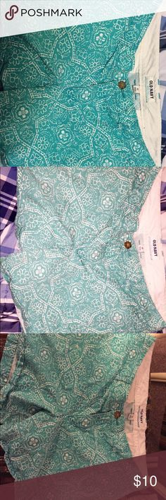 Shorts Super cute pattern summer shorts from old navy only worn once size 12 Old Navy Shorts