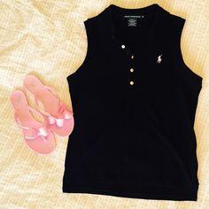 Sleeveless Ralph Lauren Sport collared shirt Like new. Slim fit. Can wear it under anything! Ralph Lauren Tops Tank Tops
