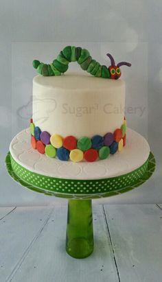 Very Hungry Caterpillar smash cake Birthday Fun, Birthday Parties, Birthday Celebrations, Birthday Cakes, Birthday Ideas, Hungry Caterpillar Cake, Cake Pictures, Cake Smash, Party Time