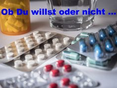Arzneimittel im Wasser! Ice Cube Trays, Water Supply, Drinking Water, Pills