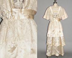 Titanic Edwardian Silk Lace Wedding Dress with by daisyandstella