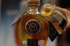 Sotol Hacienda OroPuro. Aged to Taste. 2 Years Old. Single French Barrel Bottled. 24K Gold Flakes.