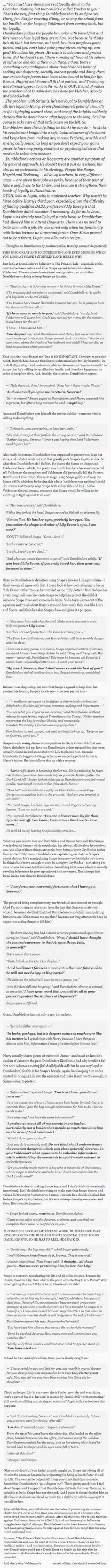 Dumbledore is devious.