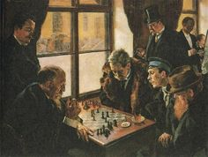 This painting of the inside of Dominic was created by Gugo Karlovich Bakmanson, also a chess player who came in 13th out of 14 competitors in the St. Petersburg Tournament of 1901.
