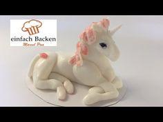 Einhorn aus Fondant/ Unicorn Fondant modelling- von einfachBacken Schweiz