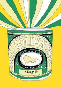 Golden Syrup Large Print by PeaPress1 on Etsy, $18.00