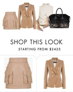 """Untitled #2013"" by monique-d ❤ liked on Polyvore featuring Balmain, TIBI and Givenchy"