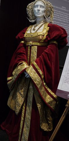 Anne of Cleeves. Costume featured in David Starkey's television series, '6 wives'.