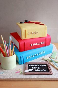 "Tarta ""Libros de profesora"" / Teacher's Books Cake"