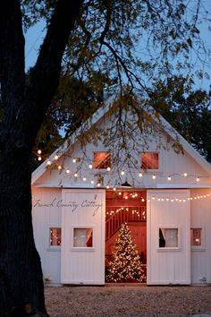 French Country Cottage Christmas Home Tour - French Country Cottage Christmas Farm, Cottage Christmas, Christmas Lights, Christmas 2019, Christmas Ideas, Holiday Lights, Rustic Christmas, Christmas Inspiration, White Christmas