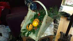 Garden basket for Christmas