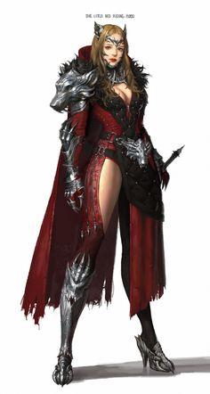 ArtStation - Little red riding hood, dia nak Fantasy Girl, Fantasy Female Warrior, 3d Fantasy, Fantasy Armor, Fantasy Women, Female Armor, Female Knight, Warrior Girl, Anime Fantasy