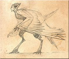 Design Comish - Harpy by TwilightSaint @deviantart (c) TwilightSaint