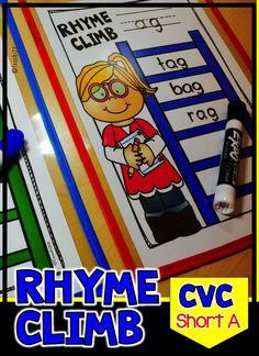 CVC Words Rhyming - Phonemic Awareness - Short Vowel: Aa - You can easily incorporate a quick phonemic awareness (P.A.) activity with the Rhyme Climb mat above. When you meet with your reading group, have your students write the word family that you are focusing on the top line. Students will: Write words in the word family. To differentiate for your higher readers, encourage them to use blends, digraphs, or write multi syllable words. FREE sample plus link to paid lessons.