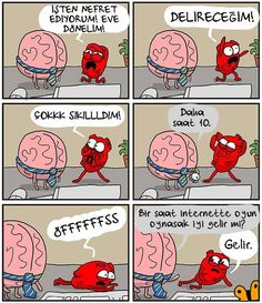 It's and you wanna go home! And so do Heart and Brain over at The Awkward Yeti apparently… here's ten great Heart and Brain comics that are sure to . Akward Yeti, The Awkward Yeti, Heart And Brain Comic, Bazar Bizarre, I Hate Work, Funny Jokes, Hilarious, Lame Jokes, Im Going Crazy