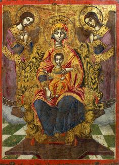 Detailed view: Virgin and Child- exhibited at the Temple Gallery, specialists in Russian icons Byzantine Icons, Byzantine Art, Religious Icons, Religious Art, Medieval Art, Renaissance Art, Mother Of Christ, Blessed Mother, Mother Mary