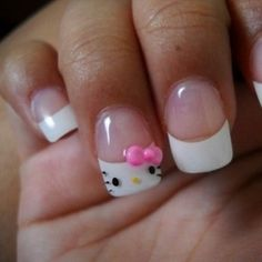 Hello Kitty Nails!!!!  I am gonna do this for the summer.
