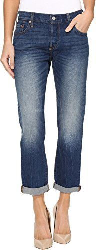 Hopin Womens Strappato Skinny Jeans Shorts