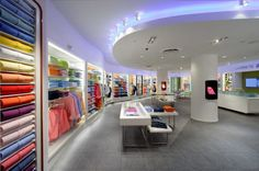 The stores' digital signage includes various video walls — including a ceiling display in Miami — intended to add a modern flavor and communication tool to the classic and traditional brand, created in 1933 by the French tennis legend René Lacoste.