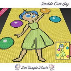 Inside Out Joy C2C crochet graph   Craftsy