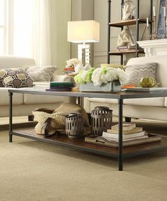 Loving this Two-Shelf Cocktail Table on #zulily! #zulilyfinds