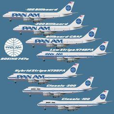 The Pan Am 747 Fleet