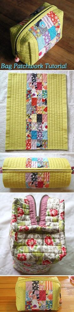 Easy to manufacture handbag in patchwork technique. DIY tutorial. http://www.handmadiya.com/2015/08/small-bag-of-patchwork-diy-tutorial.html: #handbagdiy #diyhandbag #diybag