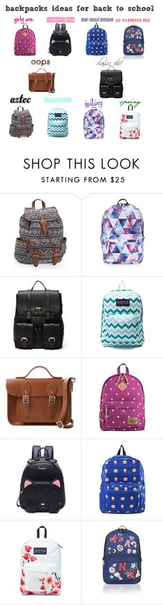 """backpacks ideas for back to school"" by lynamiss on Polyvore featuring mode, Aéropostale, Accessorize, Sole Society, JanSport, The Cambridge Satchel Company et Dickies"