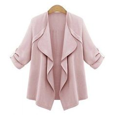 Trendy Turn-Down Collar Long Sleeve Solid Color Women's Coat (PINK,2XL) in Jackets & Coats | DressLily.com