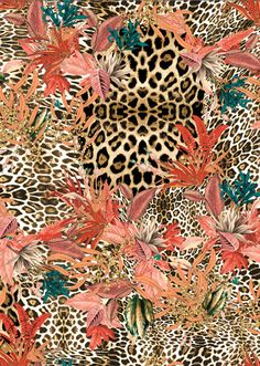 🐆❤🐆❤🐆 Into the Wild ~ Lunelli Textil Textile Patterns, Print Patterns, Muster Tattoos, Motif Floral, Mixing Prints, Pattern Wallpaper, Cute Wallpapers, Art Inspo, Printing On Fabric