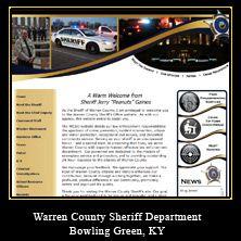 My Web Design Clients: Warren County Sheriff Department. Bowling Green, Kentucky.