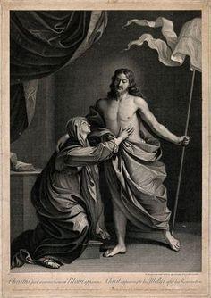 theraccolta:  Robert Strange, Cristo appare alla Vergine, ispirato ad un quadro del Guercino, 1773 circa