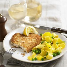 Chicken Schnitzel with Noodles - Woman And Home
