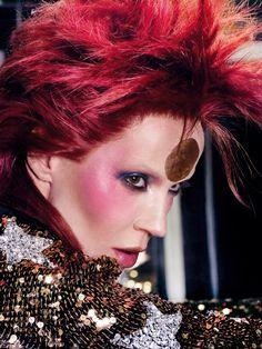 Daphne Guinness as David Bowie by Bryan Adams, 2011