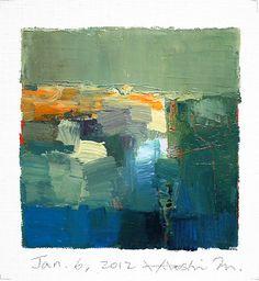 Jan 6 2012  Original Abstract Oil Painting  by hiroshimatsumoto, $60.00