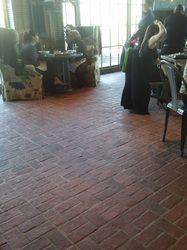 hotel and spa - inglenook brick tiles - thin brick flooring, brick