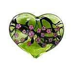 Cherry Blossom Heart Paperweight
