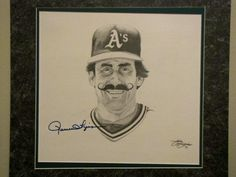 Rollie Fingers signed drawing