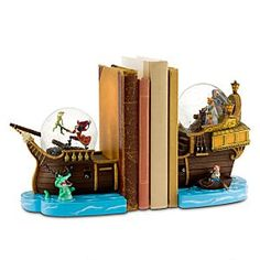 I like the idea of having these bookends on a decorative shelf and then using different versions of Peter pan stories between them