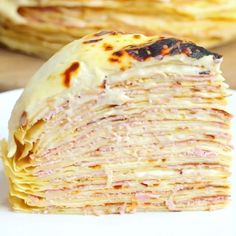 """143 Likes, 5 Comments - Twisted Food (@twisted_food) on Instagram: """"Ham and cheese crepe cake . . . #food #foodie #foodlover #recipe #videooftheday #recipevideo #yummy…"""""""