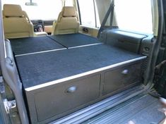 Home made drawer system added to my Disco 2 - Land Rover Forums - Land Rover Enthusiast Forum Land Rover Discovery 5, Discovery 2, Land Rover Overland, Land Rover Defender, Car Luggage Carrier, Land Rover Camping, Suv Camper, Range Rover Classic, Living On The Road