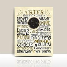 Astrology Constellation Print * Aries from Anne Garrison Studio on OpenSky