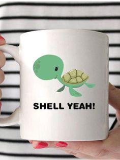 031e6b130ec Turtle Mug, Shell Yeah, Turtle Coffee Mug, Sea Turtle Coffee Mug, Turtle  Gifts, Gifts For Turtle Lovers, Funny Turtle Gifts, Sea Turtle Gift